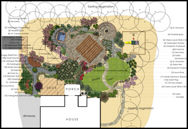 landscape design installation cad drawing